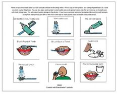Free printable oral hygiene pictos ... I use real pictures for now.