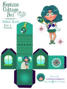 Sailor Neptune (Michiru Kaioh) Cottage Box - Free & Printable