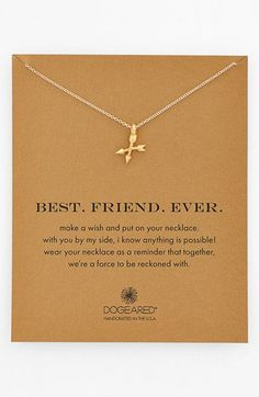 Dogeared 'Best. Friend. Ever.' Pendant Necklace | Nordstrom