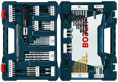 Bosch Drill and Drive Bit Set A wide variety of general purpose accessories 91 piece drilling and driving set Tough jobsite case Carry-along convenience Tool Box Kit, Bosch Tools, Amazon Sale, High Speed Steel, Impact Driver, Drill Driver, Wood And Metal, Home Improvement, Ebay