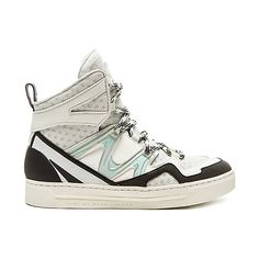 Marc by Marc Jacobs Ninja Hi Top Tech Sneaker Shoes (€200) ❤ liked on Polyvore featuring shoes, sneakers, lace up sneakers, high top sneakers, synthetic shoes, lacing sneakers and laced shoes