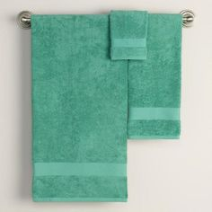 One of my favorite discoveries at WorldMarket.com: Beryl Green Bath Towel Collection