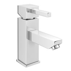 Prime Modern Mono Basin Mixer Tap with Waste - Chrome Large Image