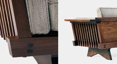 Widdicomb sofa (detail), George Nakashima.