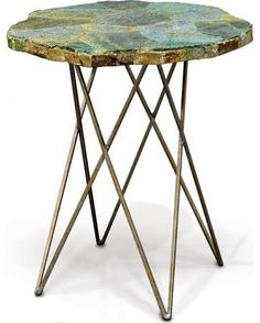 small metal side table - Google Search