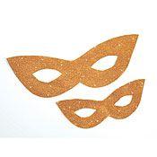 Gold Mardi Gras Mask Cutouts