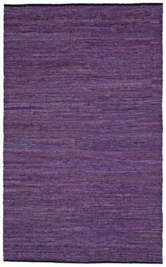 RugStudio presents St. Croix Matador Leather Chindi Lcd20 Purple Woven Area Rug