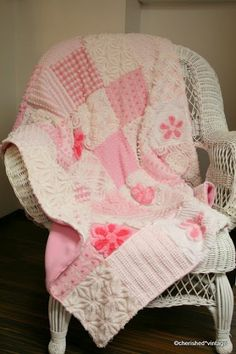 cherished*vintage: Pink  I love this beautiful quilt made from vintage blankets!!!