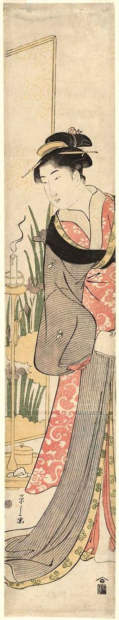 Eishi Hosoda / Frau mit Kerzenständer