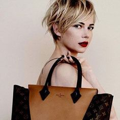 Michelle Williams Louis Vuitton hair plus dark eyebrows has everyone talking. Find out how to get the look for yourself, with tips from the best blonde colorist, Marie Robinson.
