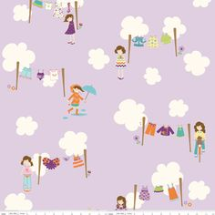 Manufacturer: Riley Blake Designs  Designer: Doohikey Designs  Collection: Dress Up Days  Print Name: Dress Up Days in Grape