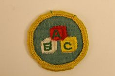 Vintage Girl Scout Merit Badge Child Care  by GreyguyIndustries