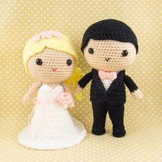 Bride and Groom Amigurumi Crochet with by SnacksiesHandicraft