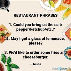 English Speaking Skills, Ketchup, Lemonade, Restaurant, Stuffed Peppers, Diner Restaurant, Stuffed Pepper, Restaurants, Stuffed Sweet Peppers
