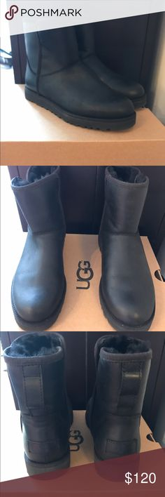 "UGG Cory Leather Boot Water-resistant leather. Sheepskin and UGGpure™ wool lining. UGGpure™ wool insole. Treadlite by UGG™ outsole. 5 ½"" shaft height. Completely sold out online! UGG Shoes Ankle Boots & Booties"