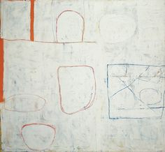 William Scott, Nile Valley: Morning, 1962, Oil on canvas, 160.3 × 173.5 cm / 63 × 68¼ in, Albright-Knox Art Gallery, Buffalo. Gift of Martha Jackson to the Room of Contemporary Art, 1967 Abstract Landscape, Abstract Art, British Artists, Amazing Paintings, Assemblages, Best Artist, Abstract Expressionism, Painting Inspiration, Painters