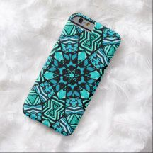 Chic Retro Teal Turquoise Ottoman Mosaic Pattern iPhone 6 Case