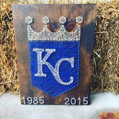 Made to order KC royals logo string art by Kimsheartstrings