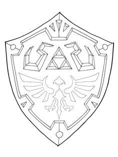 Shield Template, Shield Drawing, Zelda Sword, Zelda Drawing, Shield Tattoo, Link Costume, Zelda Birthday, Zelda Tattoo, Link Cosplay