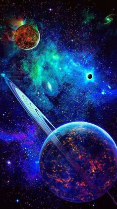 galaxies and planets Wallpaper Earth, Planets Wallpaper, Wallpaper Space, Galaxy Planets, Galaxy Art, Galaxy Space, Space Planets, Planets In The Sky, Dark Galaxy