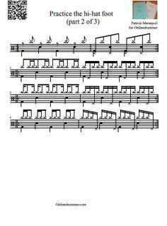 "Drum Sheet Music u2013 Drum Transcriptions and Scores | OnlineDrummer ..."""