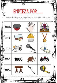 CONCIENCIA FONOLÓGICA EMPIEZA POR…... MA-ME-MI-MO-MU EDITABLE -Orientacion Andujar Bilingual Education, Kids Education, Word Work Activities, Activities For Kids, Daily Five, Inquiry Based Learning, Elementary Spanish, Literacy Stations, Spanish Language Learning