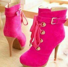 Botas rosa fucsia