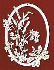 Fensterbild Wiesenblumen mit Schnecke Holz H. 18 cm
