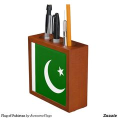 Flag of Pakistan Pencil Holder