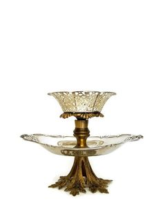 Check out Silver Jewelry Stand, Two Tier Silver Plate & Brass Decorative Jewelry Stand Display, Jewelry Display Stand, Jewelry Box on decadesemporium