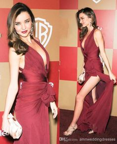 for the shower.....   Wholesale Evening Dresses - Buy Hotest !!! Inspired by Miranda Kerr Zuhair Murad Celebrity Dresses Real Image Sexy Dark Wine Red Halter Side Slit Red Carpet Evening Gowns, $105.0 | DHgate
