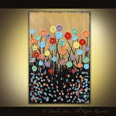 Original painting on canvas modern abstract by danlyespaintings, $199.99