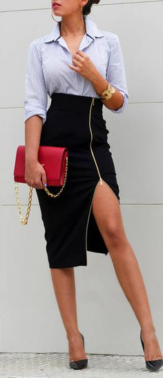 Totally wear this to business meetings for school. High Waisted Pencil Skirt d3ba7fcdb473