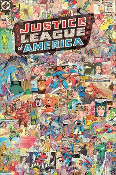 Justice League of America Giclee Print por ComicReliefOriginals