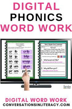 This Digital Blends and Digraphs Phonics and Fluency Reading Intervention Binder is created for use in Google Classrooms™. The activities are perfect for decoding blends and digraphs. This resource is packed with interactive activities that are engaging and effective! #phonics #distancelearning #digitallearning #conversationsinliteracy #wordwork #kindergarten #firstgrade #homeschool #blends #digraphs #secondgrade 1st grade, kindergarten, 2nd grade