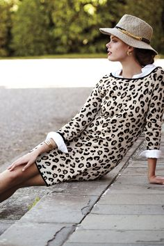 make in snow leopard print so it matches my  colors? Leopardo Sweater Dress - career wear