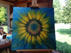 A Sunflower Painting by Ann Alexander.  An Artist's #dreamcometrue!Sweet Annie Renee Sunshine Studio http://www.sweetanniereneearts.com