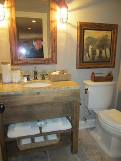 homemade sink cabinet rustic chic bathroomssmall - Rustic Chic Bathroom Vanity