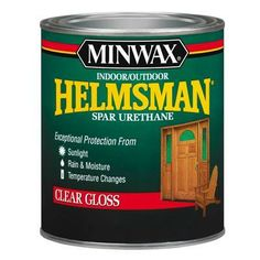 Spar urethane protects the finish of exteriors doors, trim, and furniture with UV absorbers that guard the finish and the wood from the sun's rays. And it's made with a special blend of oils and resins that allows it to flex as the wood surface expands and contracts.   thisoldhouse.com
