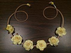 Yellow Dasiy Flowerhalo, Flowercrown, Flowerheadband, flowerchild, flowerchildren, hair, accessories, fashion, coachella, festival, bridal