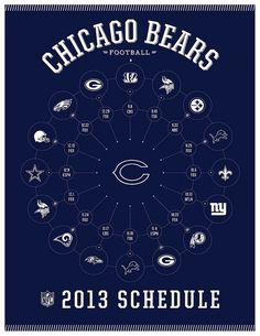 Chicago Bears 2013 Schedule | Flickr - Photo Sharing. Now that's handy