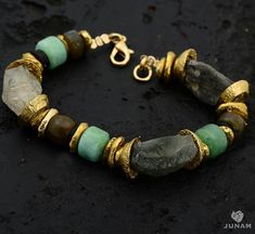Hey, I found this really awesome Etsy listing at https://www.etsy.com/listing/129997964/stone-bead-bracelet-gold-plated-and