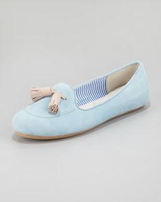 Sylvie Tassel Loafer, Aqua by Charles Phillip Shanghai at Neiman Marcus.