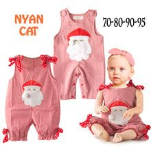 2016 New Baby Rompers Kids Christmas Outfits Infant Boy Girls Santa Clause Sleeveless Red Plaid Rompers Toddler Jumpsuit(China (Mainland))