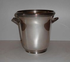 Vintage French  SILVER Plated CHAMPAGNE Bucket Signed  By  F.