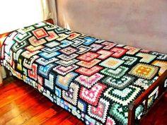 Crocheted Bedspread - Free Crochet Diagram - (xobi)