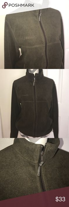 COLUMBIA SUPER SOFT FLEECE JACKET chocolate brown, size med women. adjustable waist band, zip pockets, nice, warm, and soft comfy fit. On the bigger side of medium. Jackets & Coats