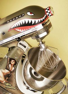 Awesome! Bomber Plane / Pin-up Girl Kitchen Aid Mixer