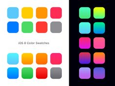 iOS 8 Color Swatches & gradients on Behance