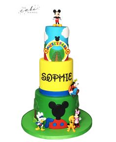 Call or email to order your celebration cake today. Mickey Mouse Clubhouse Cake, Mickey And Minnie Cake, Disney Themed Cakes, Disney Cakes, Cakes Today, Cupcake Wars, Cake Birthday, Celebration Cakes, Cake Art